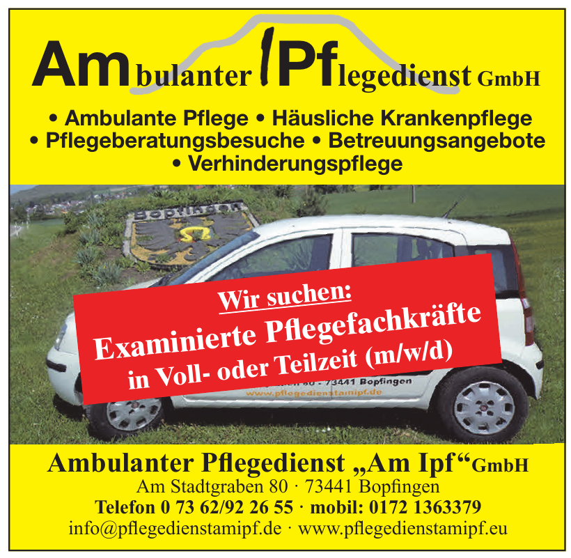 "Ambulanter Pflegedienst ""Am Ipf""GmbH"