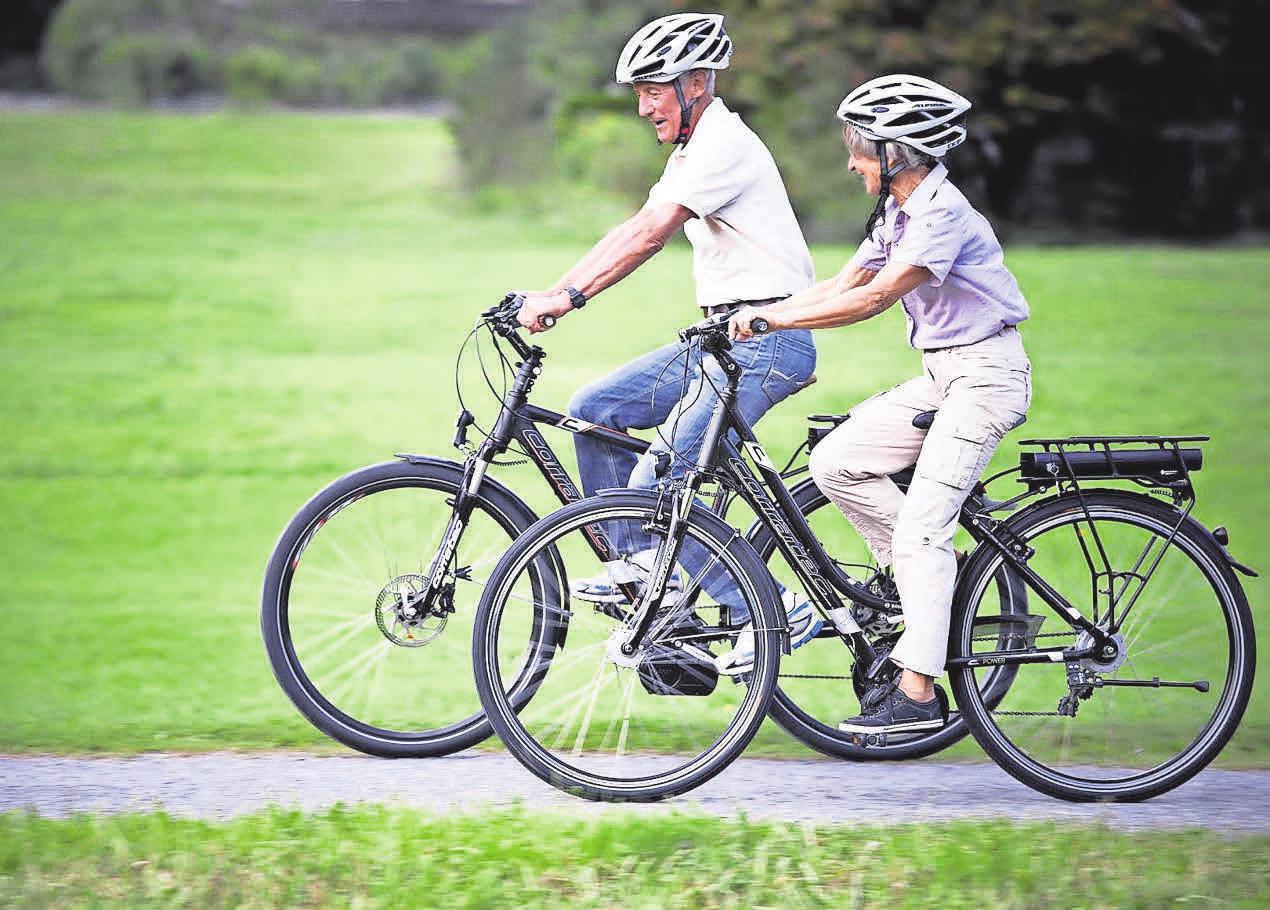 Mit Pedelecs wird das Radfahren zum Kinderspiel. Foto: Corratec / dpp
