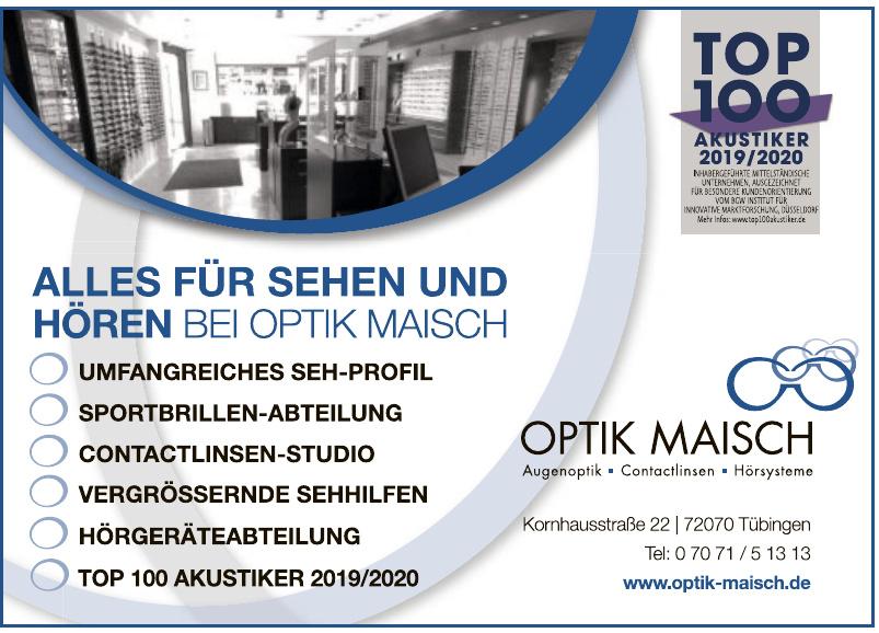 Optik Maisch Augenoptik, Contactlinsen, Hörsysteme