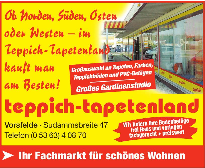 Teppich-Tapetenland