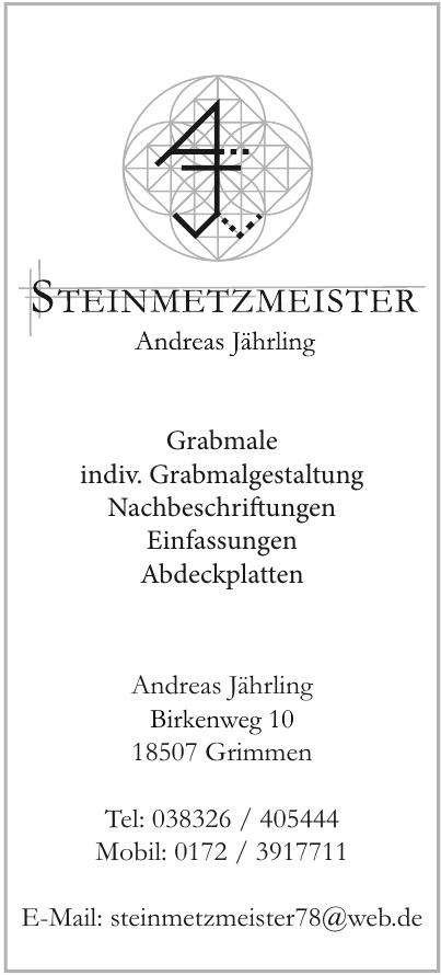 Steinmetzmeister Andreas Jährling