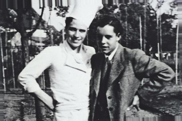 Lowe (l.) und sein Schildgener Freund Fritz Quirl. Bild: zVg