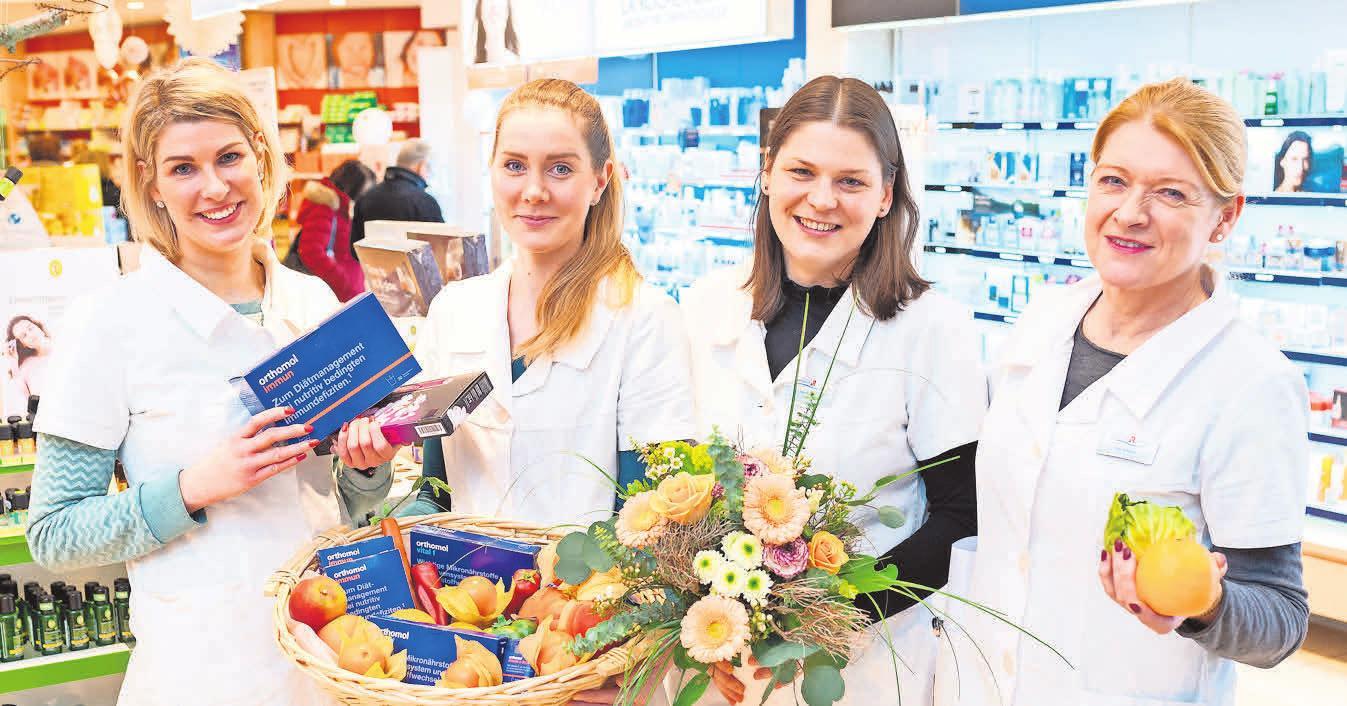 Für Frühblüher: Mit ausgewählten Vitamin-Produkten hilft das Team der Petersbogen-Apotheke dem Immunsystem und dem persönlichen Wohlbefinden auf die Sprünge. Foto: C. Modla