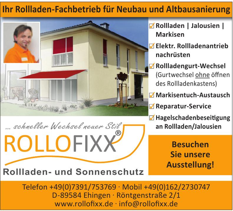 Rollofixx - Rollladen- und Sonnenschutz