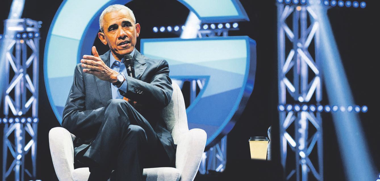 Erzählte von seinem Alltag: Ex-US-Präsident Barack Obama Foto: dpa