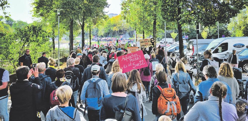 Im September organisierten die Klimafreunde Rhein-Berg in Bergisch Gladbach eine Demo, an der sich 3500 Menschen beteiligten. Bild: zVg