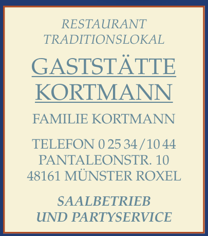 Gastsätte Kortmann
