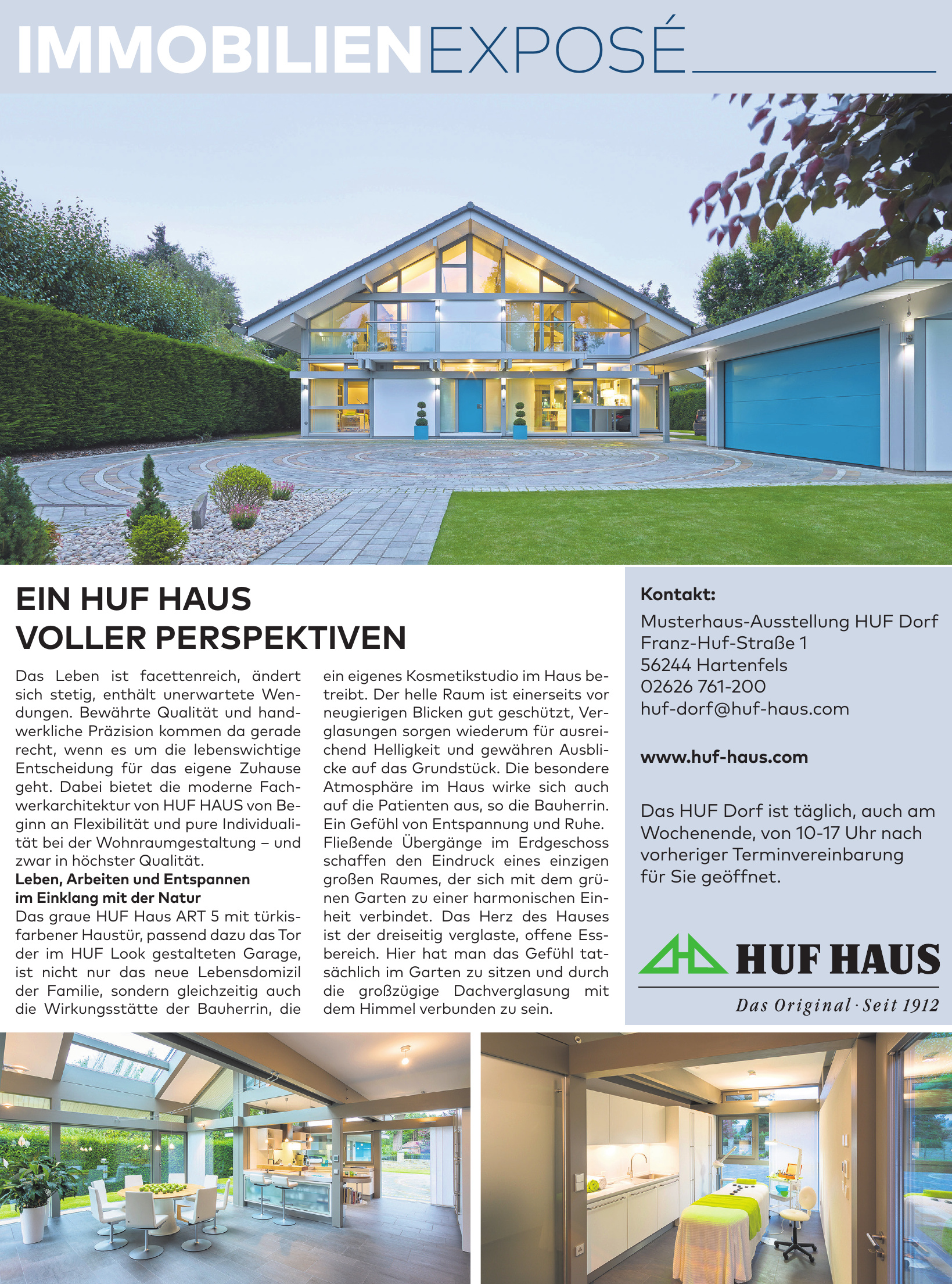 Musterhaus-Ausstellung HUF Dorf