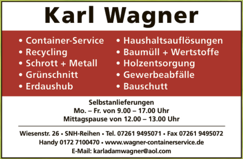 Karl Wagner Container-Service