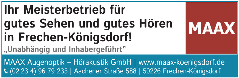 MAAX Augenoptik - Hörakustik GmbH
