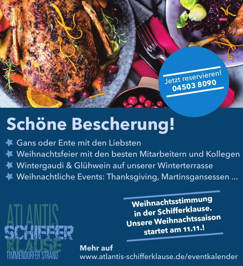 Schifferklause Restaurant im Hotel Atlantis