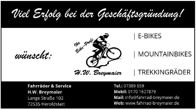 Fahrräder & Service H. W. Breymaier
