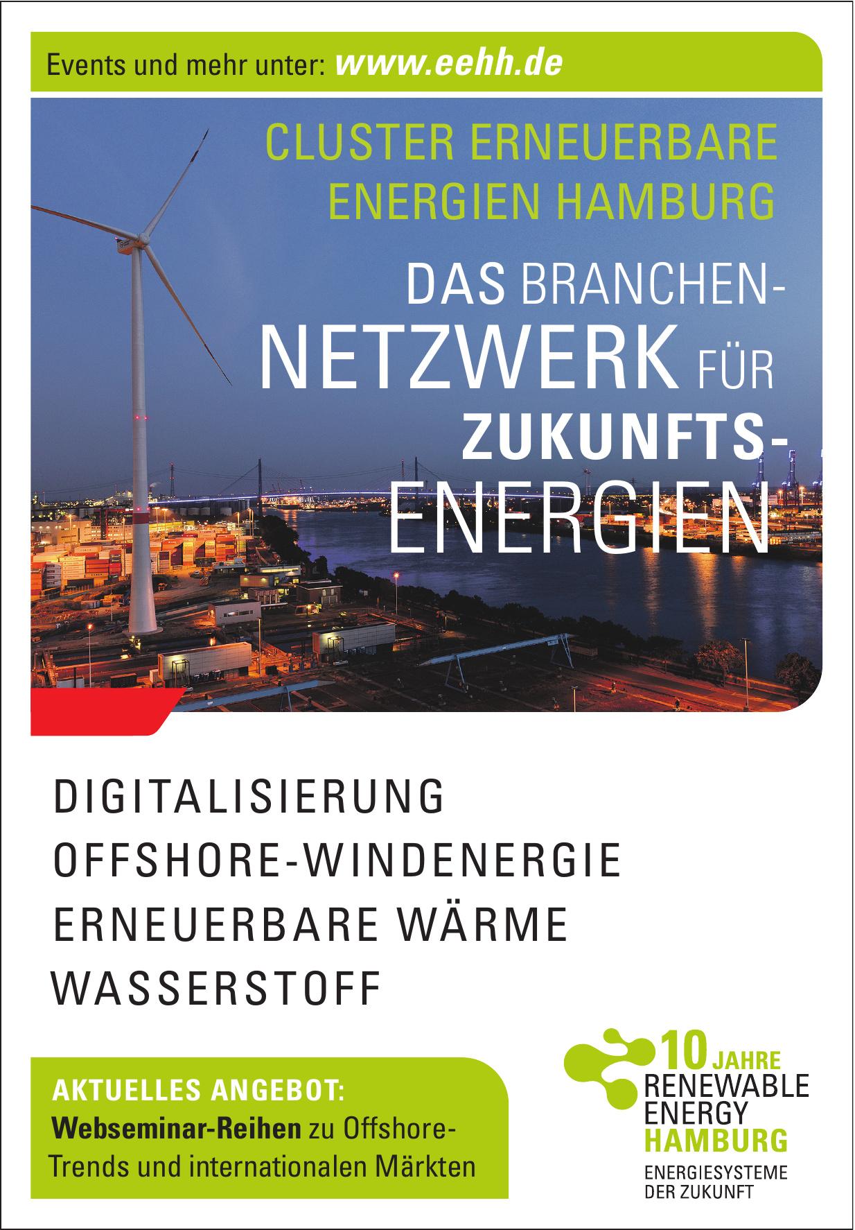 Renewable Energy Hamburg - Energiesysteme der Zukunft
