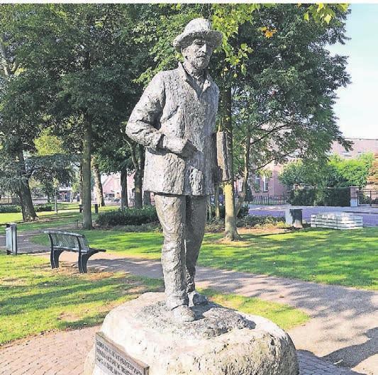 Van Gogh im Stadtpark von Nuenen†– dem berühmten Maler, der einst zwei Jahre in dem Ort in Brabant lebte, ist eine Skulptur gewidmet.