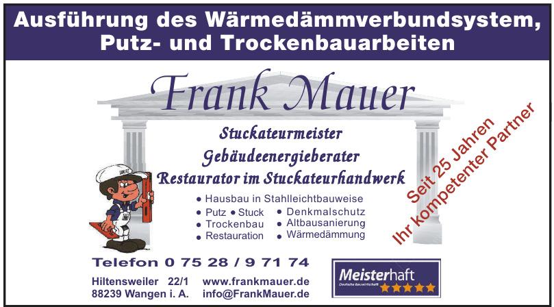 Frank Mauer - Stuckateurmeister