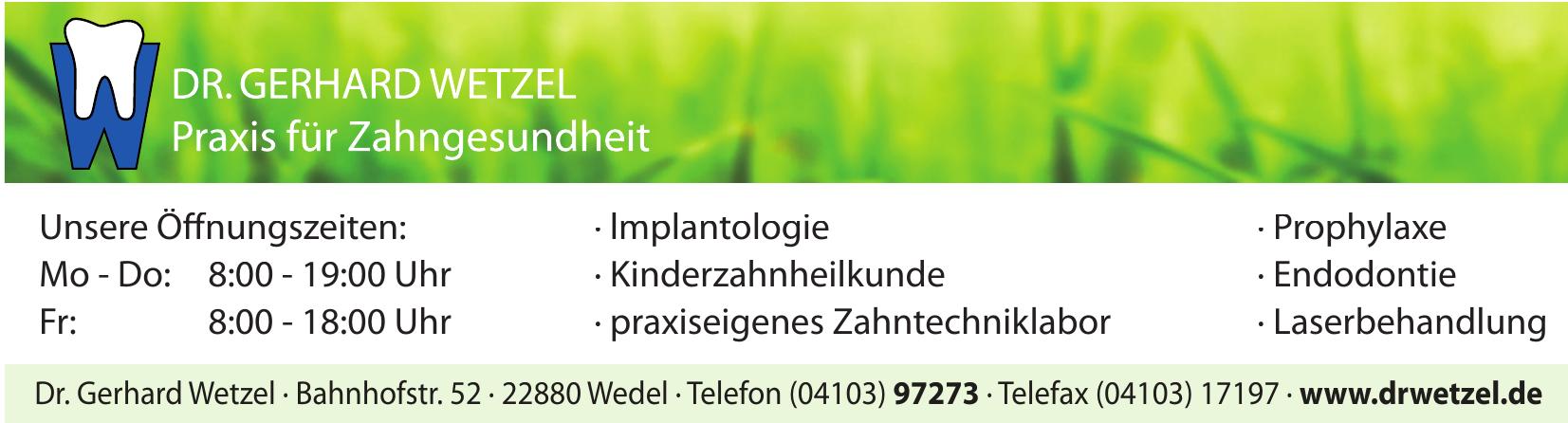 Dr. Gerhard Wetzel