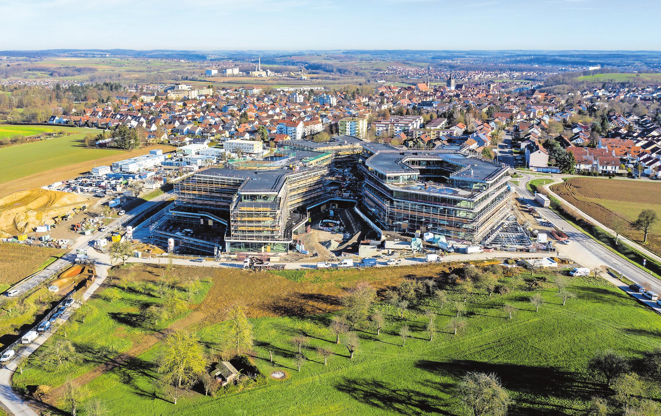 Architektonisch ist der Lidl-Campus in Bad Wimpfen Vorbild für das Projekt in Friedrichshall. Der zweite Schwarz-Campus wird aber deutlich größer. FOTO: Matthias Bitsch