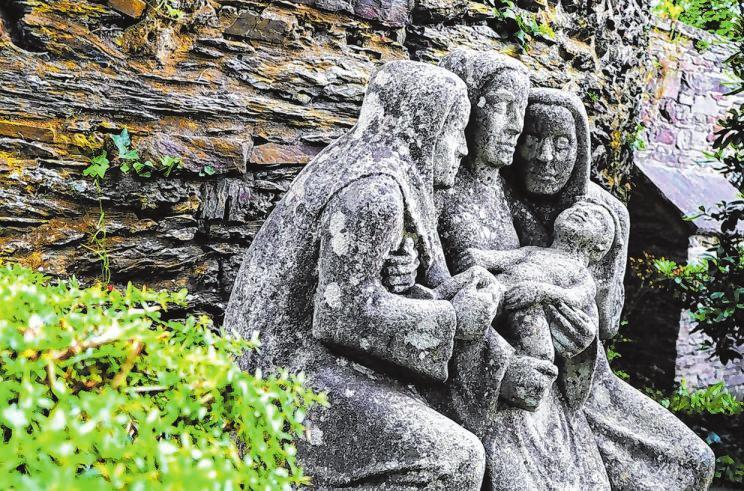 Der von Hermann Kuhmichel geschaffene Rubensbrunnen im Schlosspark ist ein beliebtes Fotomotiv.