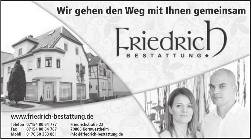 Friedrich Bestattung