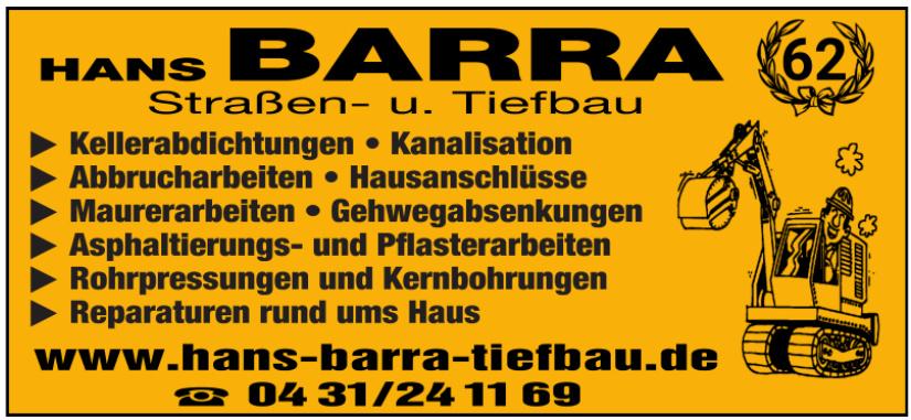 Hans Barra Straßen- u. Tiefbau