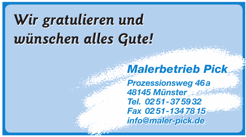 Malerbetrieb Pick