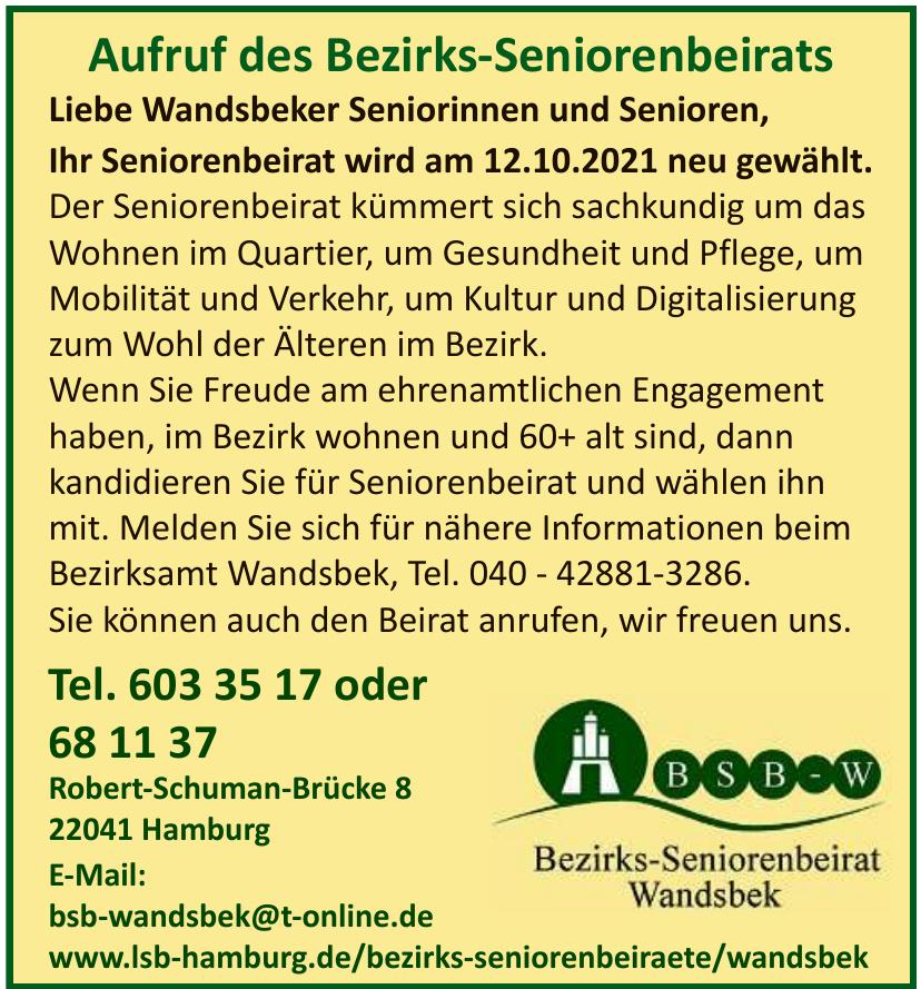Bezirks-Seniorenbeirat Wandsbek