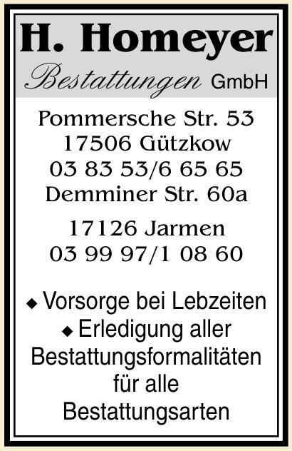 H. Homeyer Bestattungen GmbH