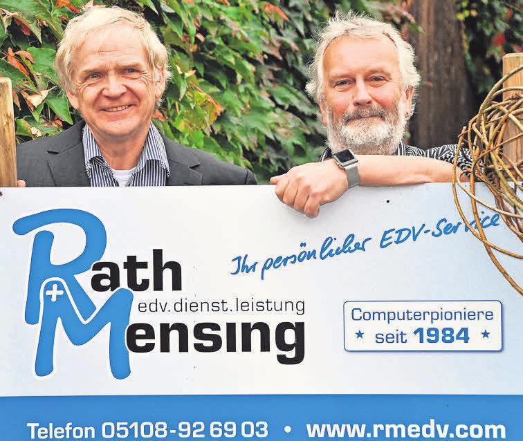 Reiner Rath und Heinz Mensing sind EDV-Experten. Foto (Heick): privat