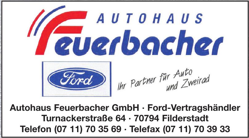 Autohaus Feuerbacher GmbH   Ford-Vertragshändler