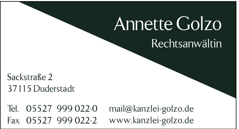 Annette Golzo Rechtsanwältin