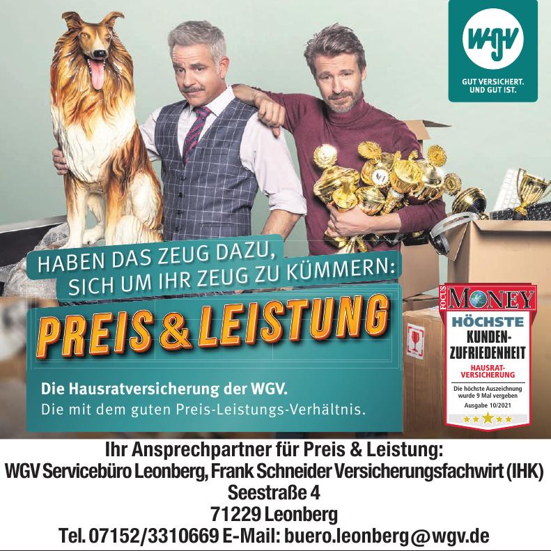 WGV Servicebüro Leonberg - Frank Schneider Versicherungsfachwirt (IHK)
