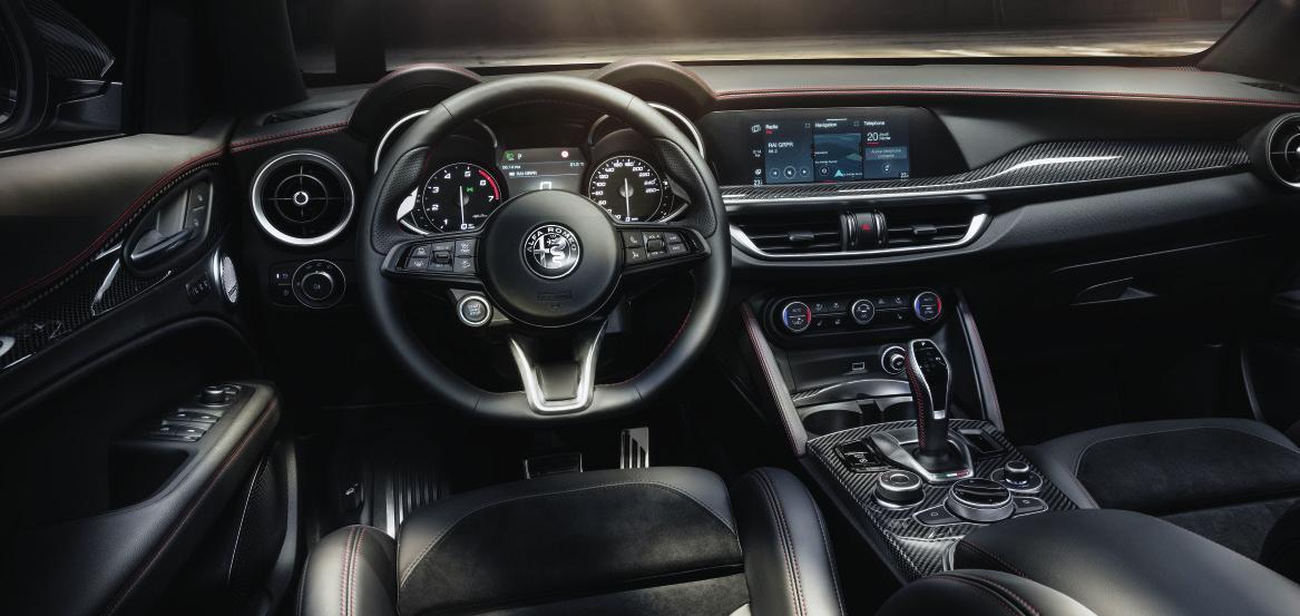 Sportlich-edler Innenraum. Foto: Alfa Romeo