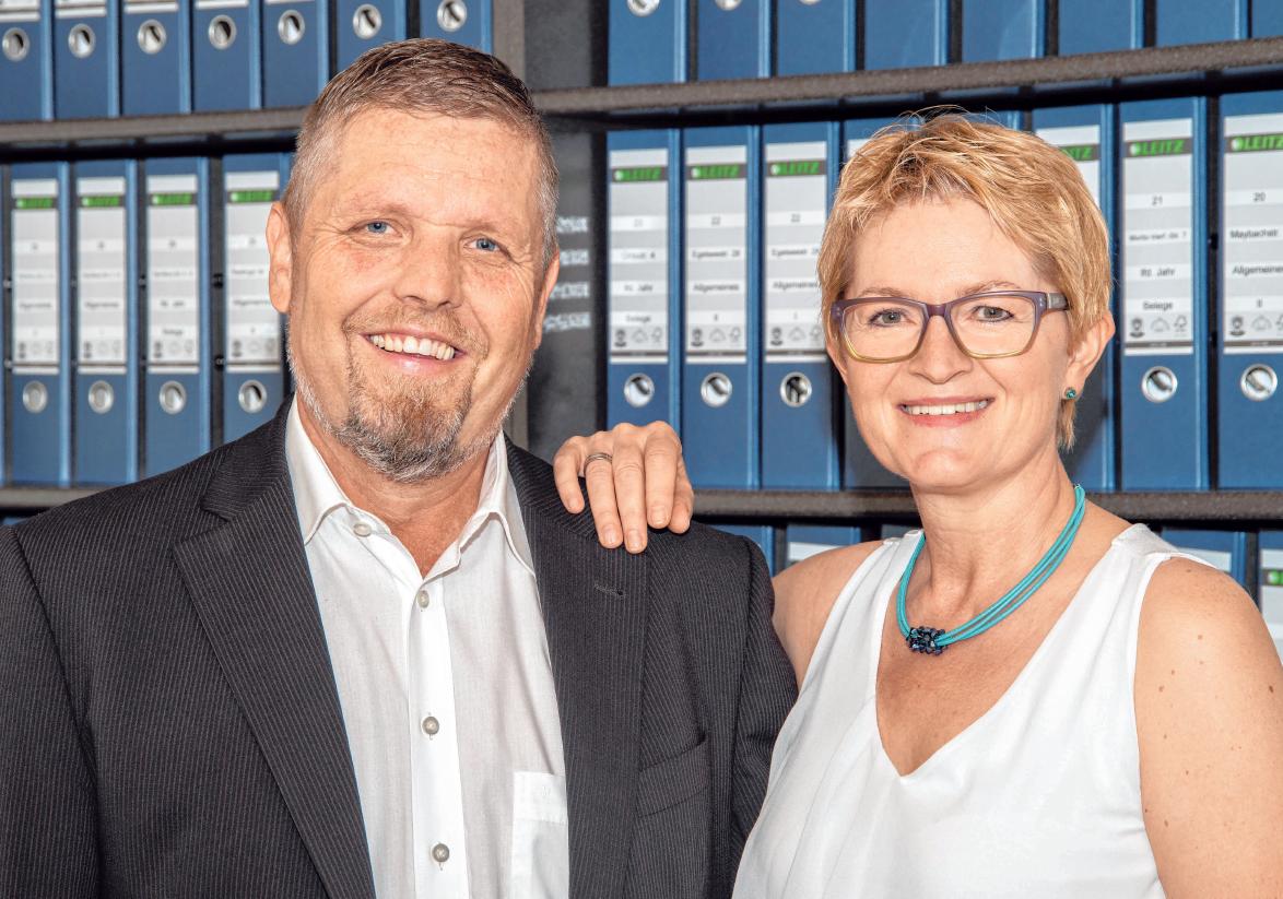 Rudolf und Angelika Hörmann haben die heutige Hörmann GmbH im Jahr 1988 gemeinsam gegründet. Rudolf Hörmann gibt die Geschäftsführung nun an seine Tochter ab, ist aber - genau wie seine Ehefrau - weiterhin im Familienunternehmen tätig. FOTOS: REINER LÖBE