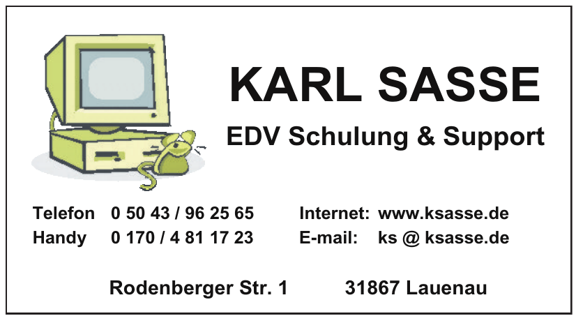 Karl Sasse EDV Schulung & Support