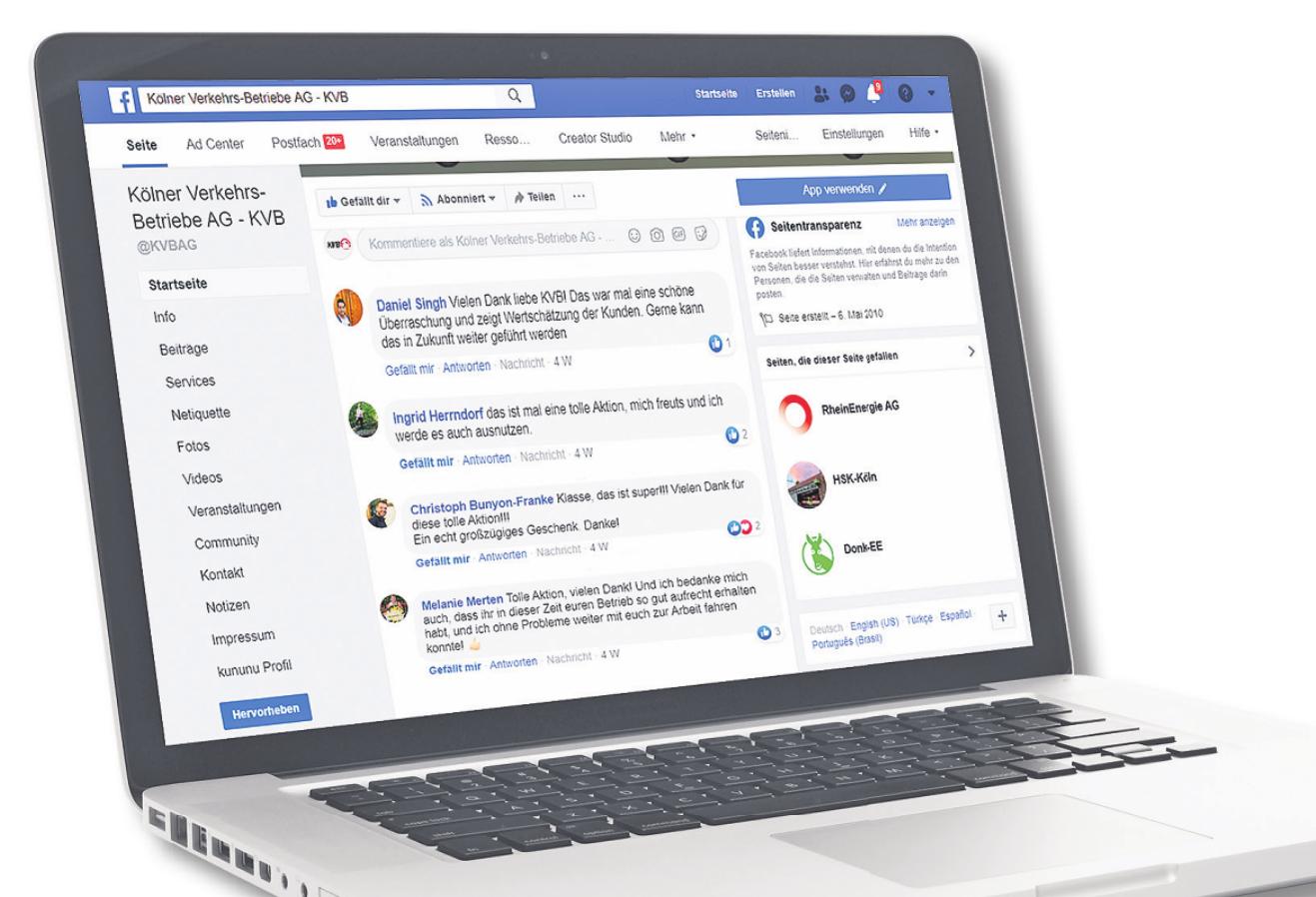 Viele Kundenreaktionen gingen via Facebook ein