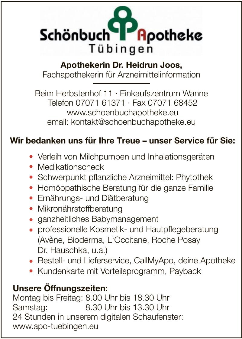 Schönbuch Apotheke Tübingen