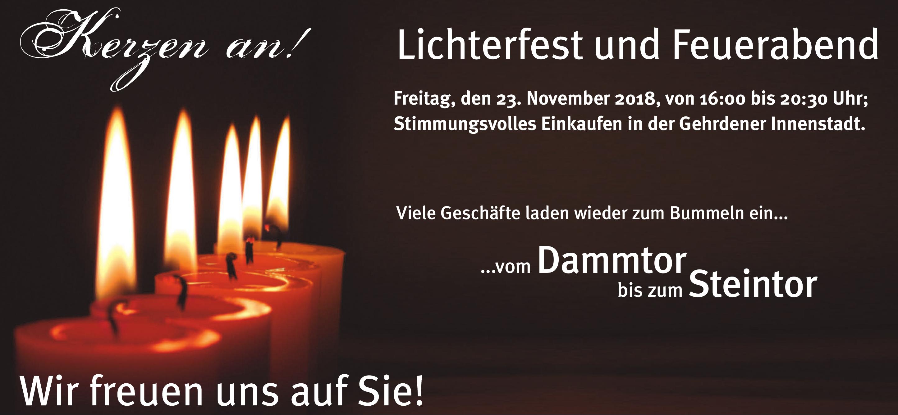 Lichterfest & Feuerabend