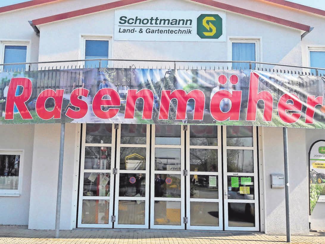 Auch Schottmann Landmaschinen und Gartentechnik musste seine Ausstellung schließen. Alle Serviceleistungen für die Kunden bleiben aber umfänglich erhalten.