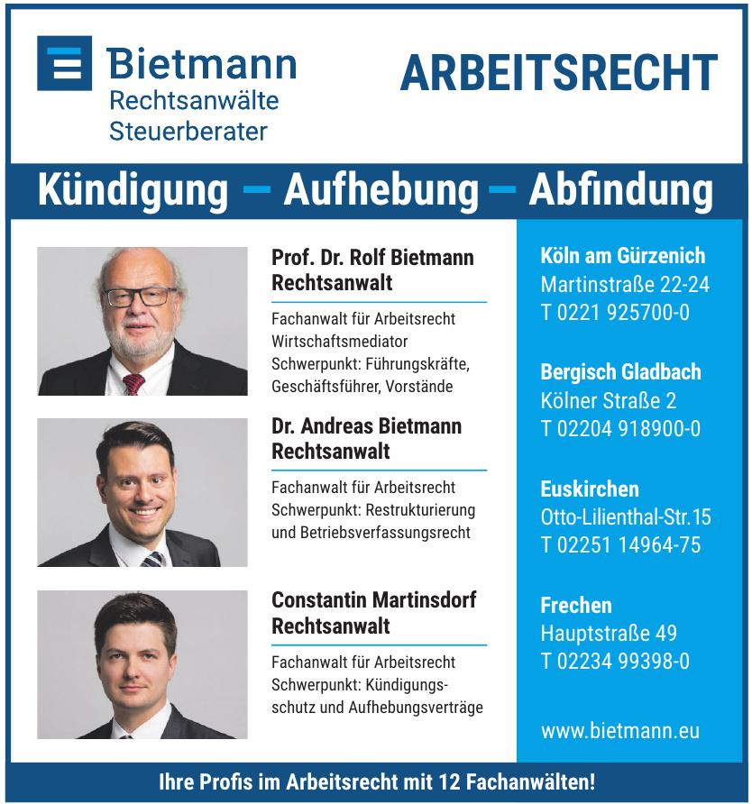 Bietmann Rechtsanwälte Steuerberater