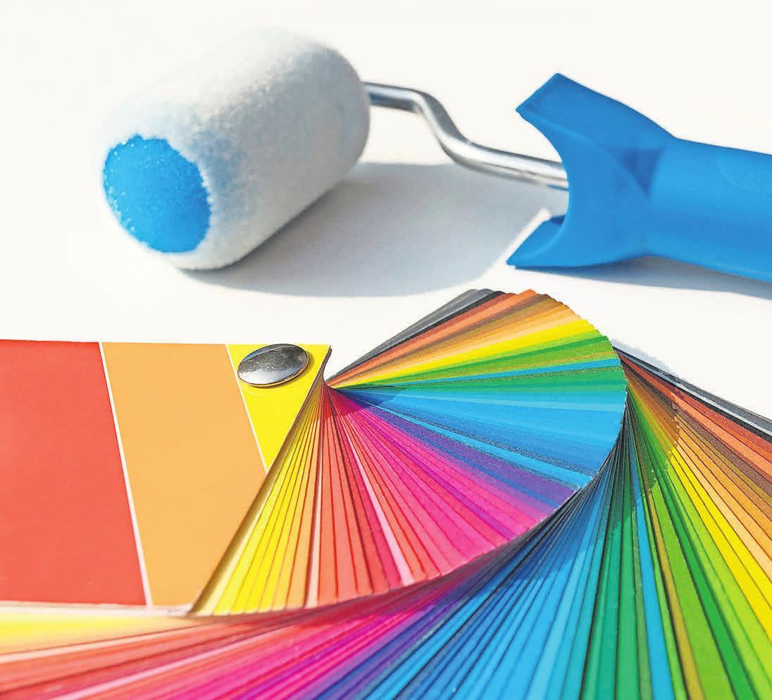 Die Auswahl an Farben und Möglichkeiten der Gestaltung ist im Malerbetrieb Gajewczyk groß. Foto: Petra Bork, Pixelio.de