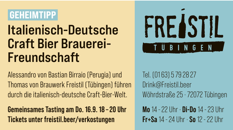 Freistil Tübingen