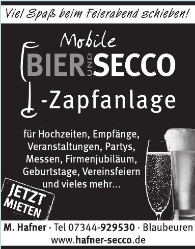 Mobile Bier und Secco - Zapfanlage