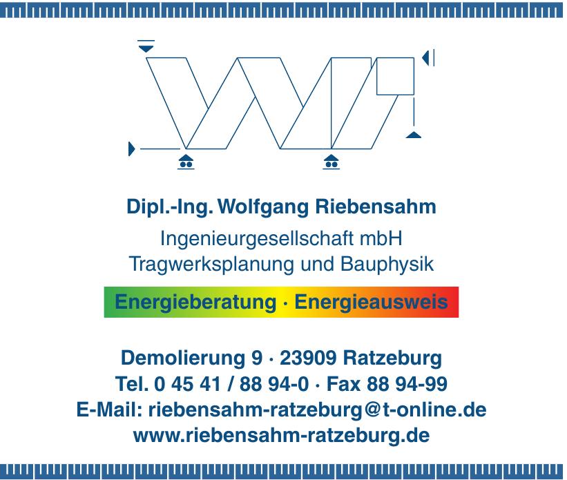 Dipl.-Ing.Wolfgang Riebensahm Ingenieurgesellschaft mbH