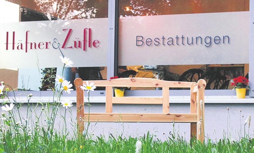 Häfner & Züfle Bestattungen in der Möhringer Widmaierstraße.