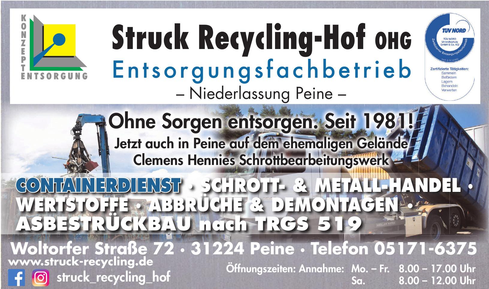 Struck Recycling-Hof OHG