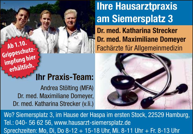 Dr. med. Katharina Strecker, Dr. med. Maximiliane Domeyer, Fachärzte für Allgemeinmedizin