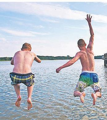 Strandbäder bieten Wasserspaß für jedermann.
