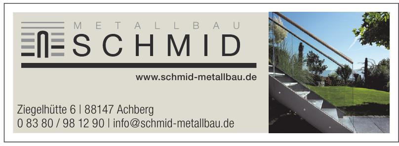 Markus Schmid, Metallbau