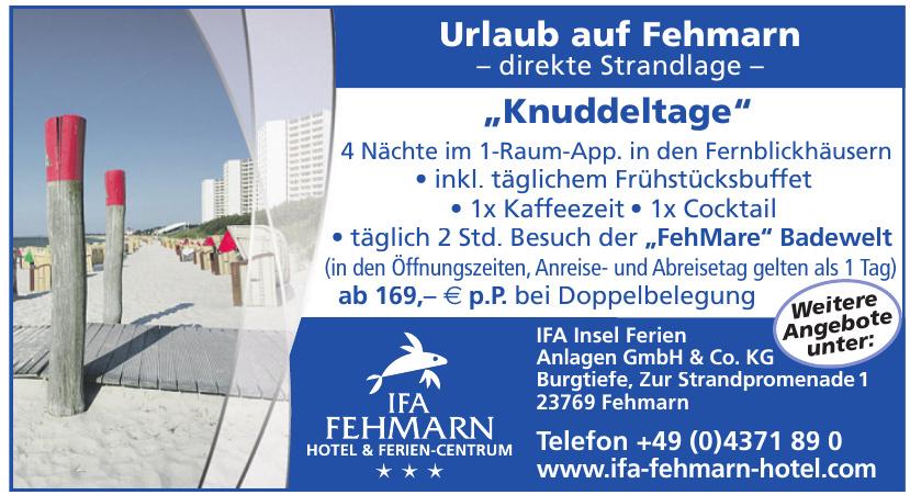 IFA Insel Ferien Anlagen GmbH & Co. KG - Hotel Fehmarn