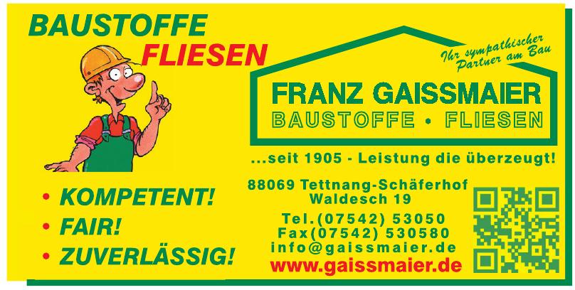Franz Gaissmaier Baustoffe GmbH & Co. KG
